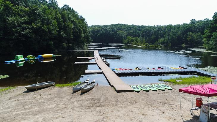 Private Lake Setting