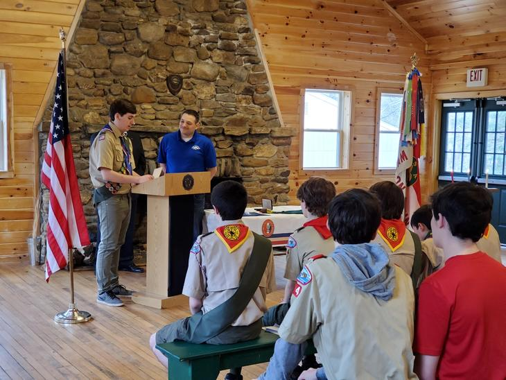 Ceremony for Eagle Scout