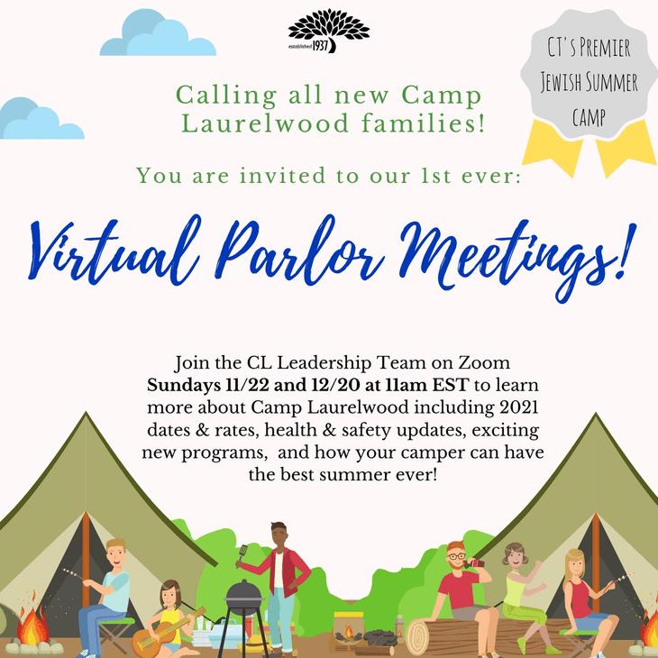 Virtual Parlor Meeting Flyer