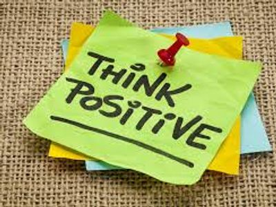"""post it notes that say """"Think Positive!"""" on them"""