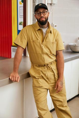 James, for Dickies.