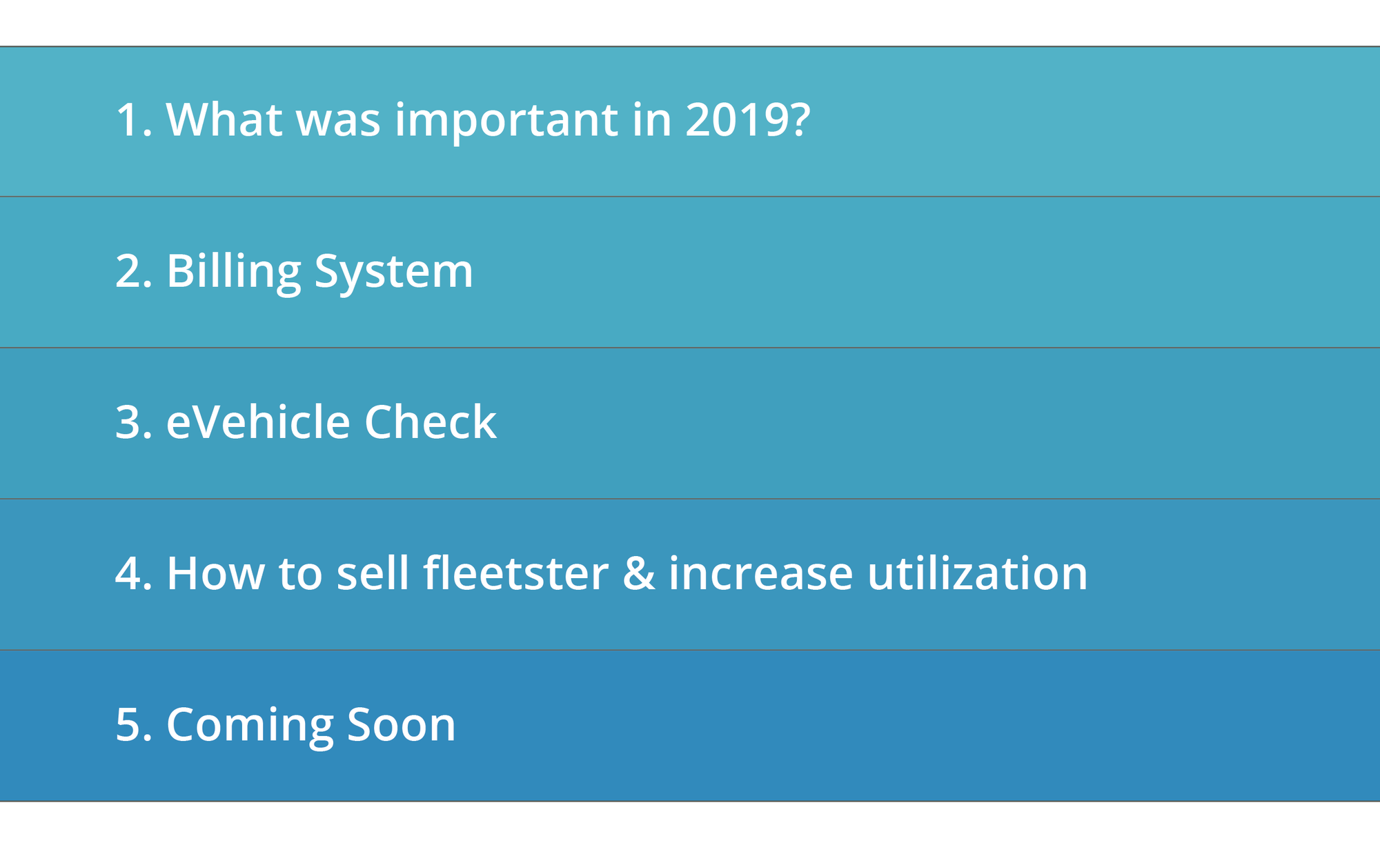 Agenda for fleetster Reloaded 2019