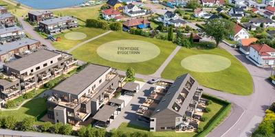 Planlagte leilighetsbygg og rekkehus i Strandhagen