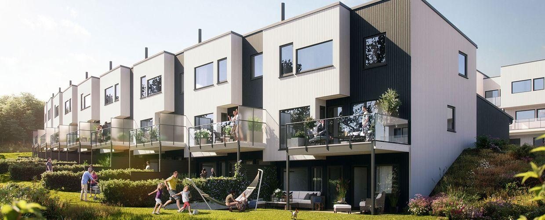 Byggetrinn 3 på Hovemarka. 9 kjekke rekkehus.