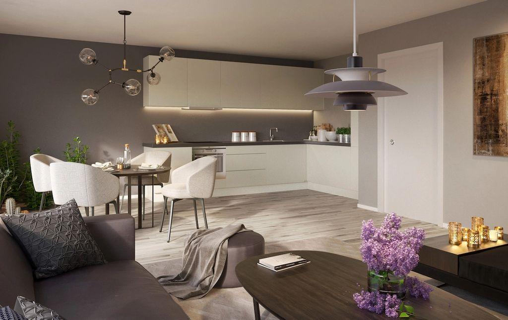 Stue og kjøkken i Møllegård 1