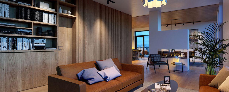 Bilde av leiligheter fra 5. og 6. etasje, disse blir noe utenom det vanlige