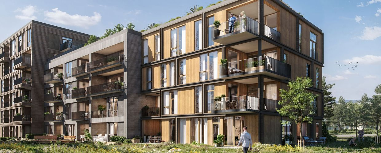Byggetrinn 1 rommer også 35 kjekke leiligheter