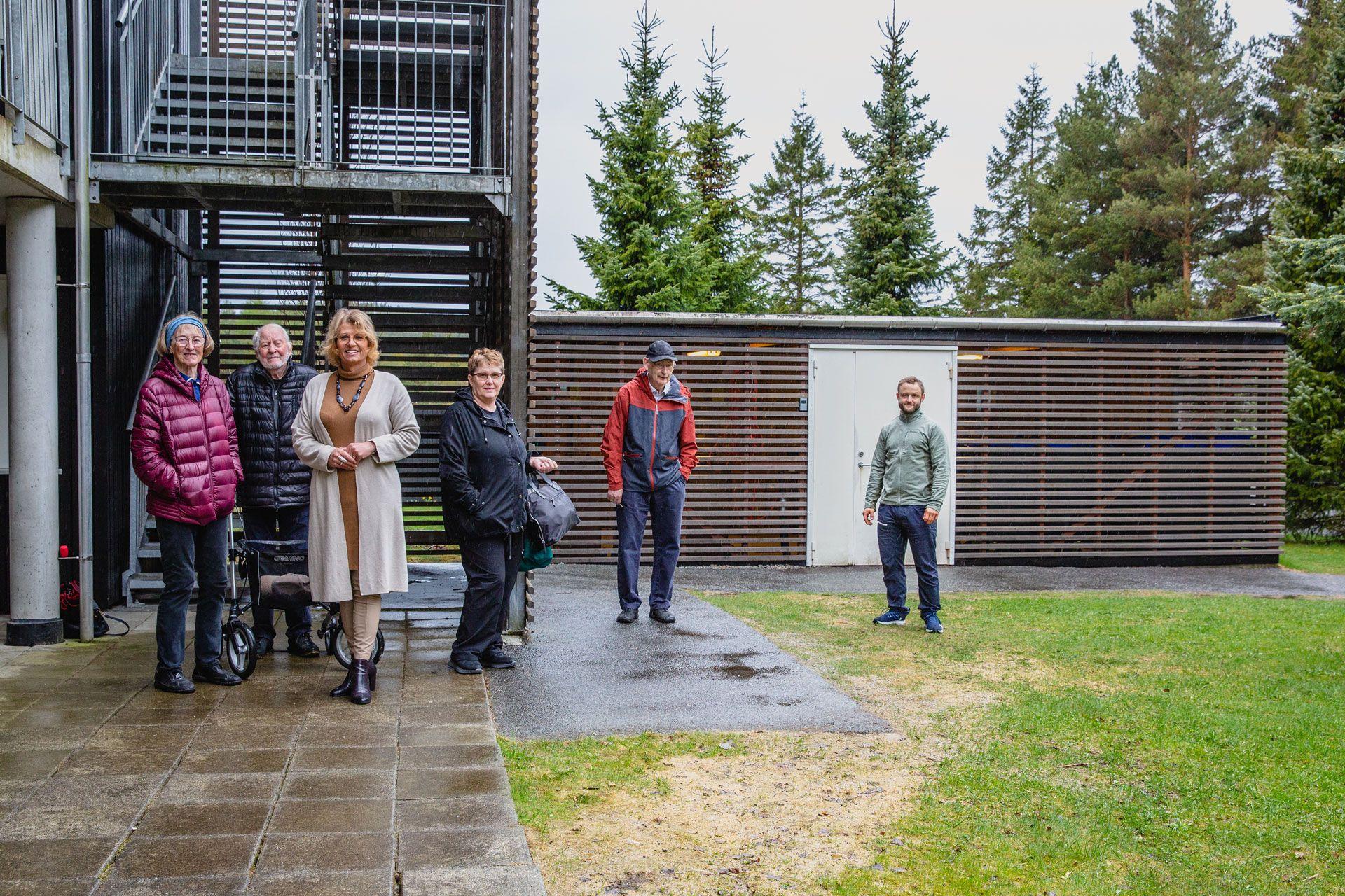 Styremedlemmer og beboere i sameiet Blåbærhagen