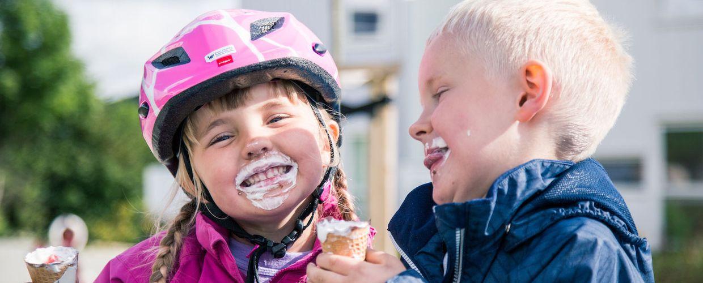 Barn spiser is