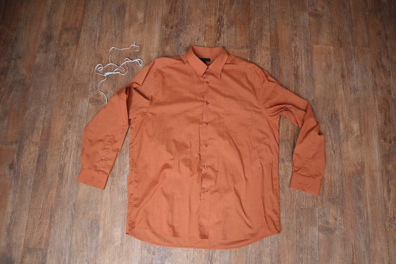 oransje herreskjorte