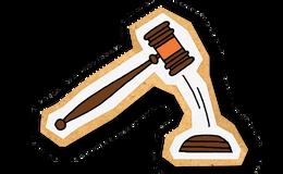 Illustrasjon av dommerhammer