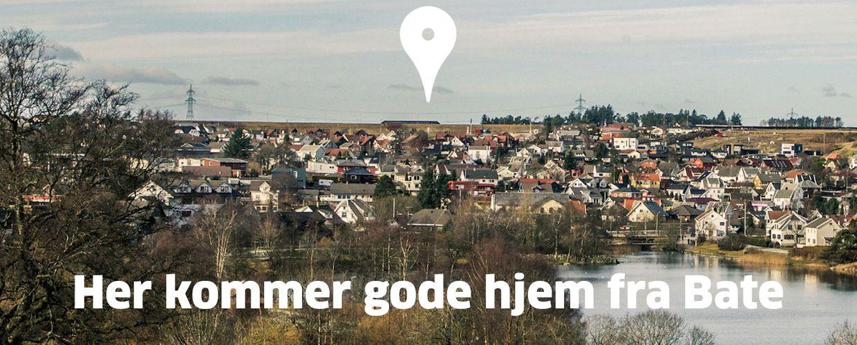 Bates boligtomt på Åse, mellom Sandved og Ganddal