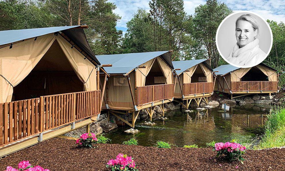 Fire telthytter i BateLodge