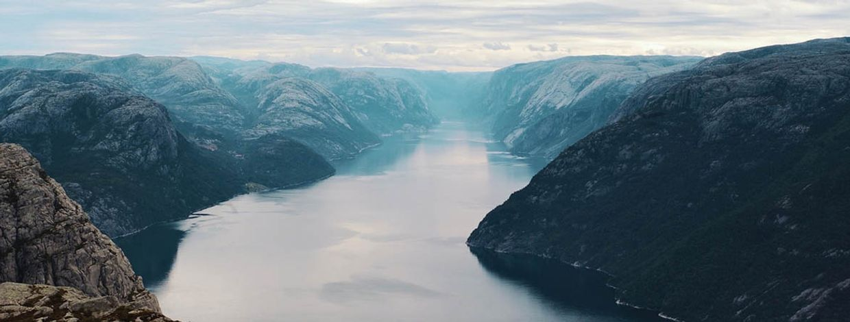 bilde av lysefjorden
