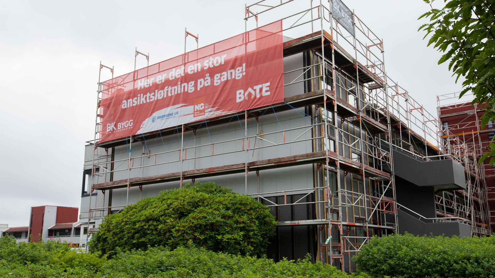 Renovering hos sameiet Solbakken Terrasse