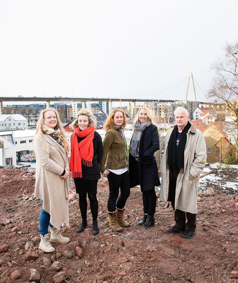 Framtidige beboere på tomta til Vindmøllebakken-prosjektet