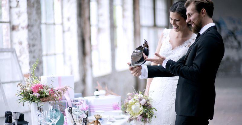 Brudepar gaver fra tilbords