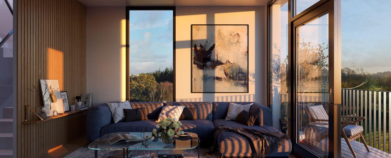 Store vindusflater i fine omgivelser på Madla