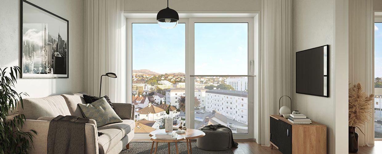 Stue med utsikt i Møllegård 2