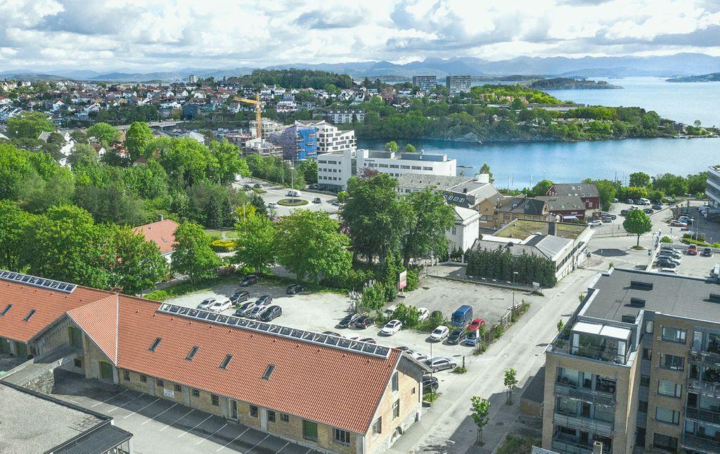 Køhler-kvartalet i Stavanger før Bate startet byggingen