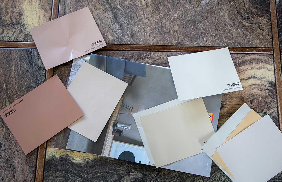 bilde av fargekoder for maling
