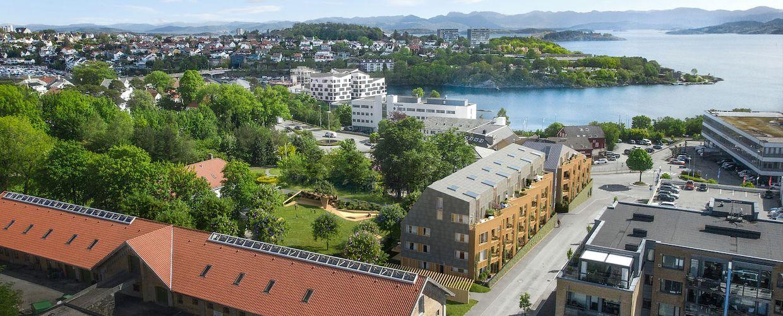 Fridas hage består av to leilighetsbygg