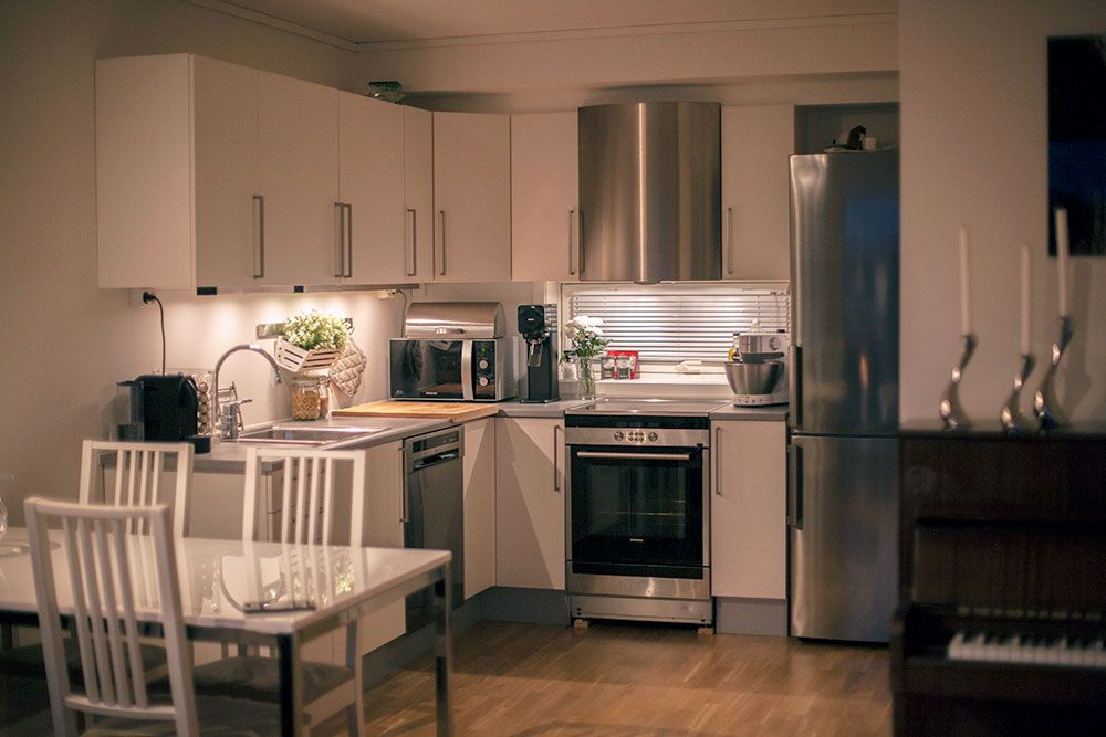 Kjøkken i leie-eie-leilighet på Goa