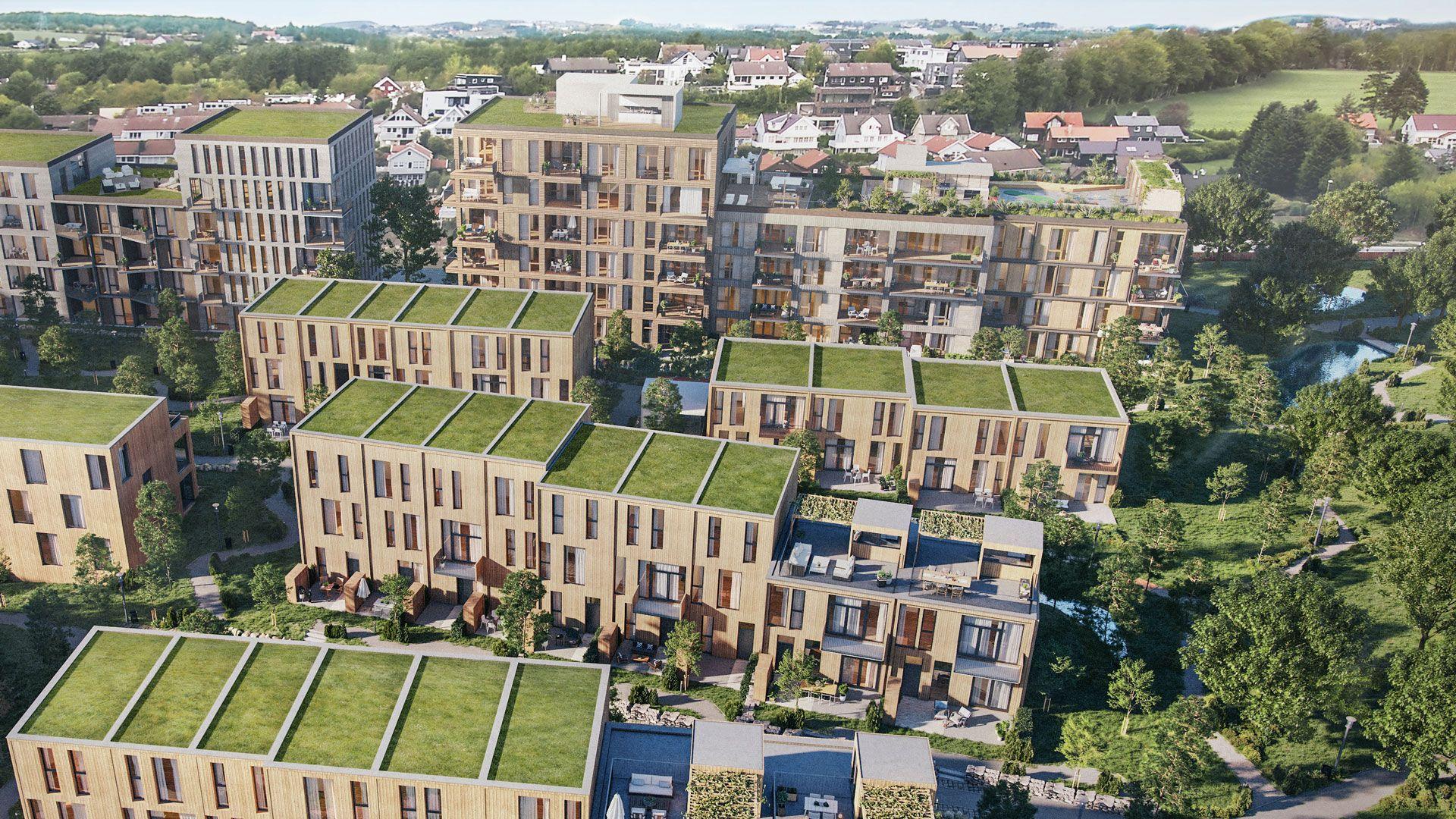 Det planlagte boligkvartalet Sætra på Madlavest