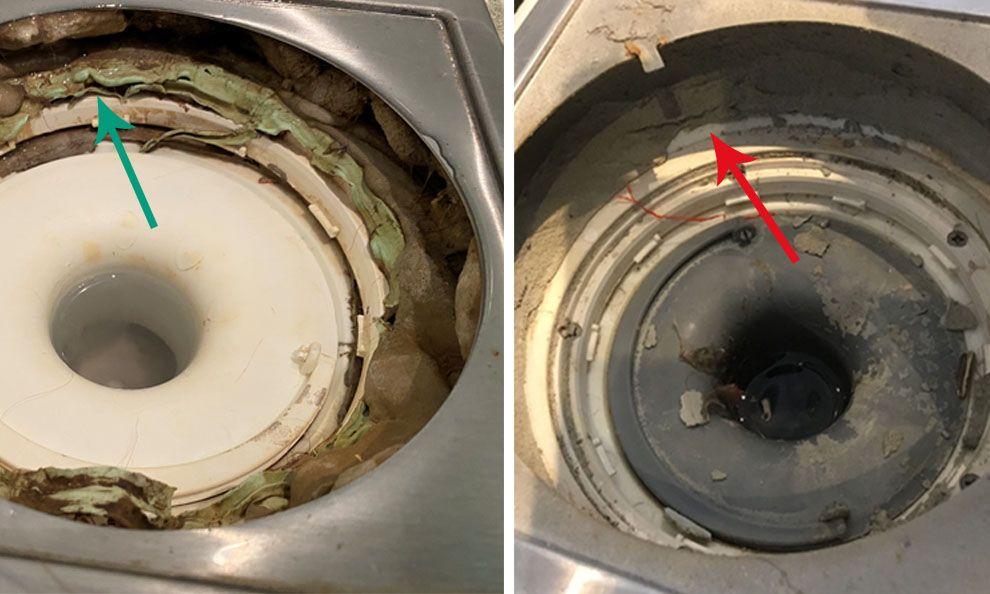 bilder av sluk i dusjen med og uten membran