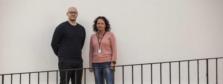 knut arve nærø og rita karin sele fra boligtjenesten i Sandnes