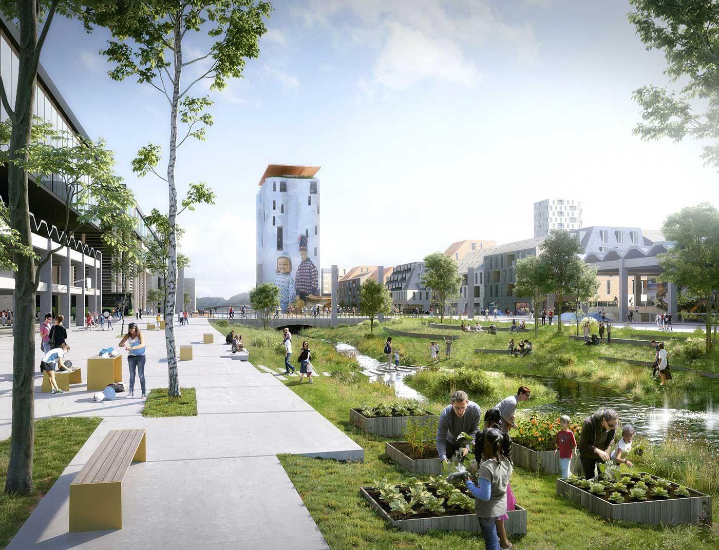 Illustrasjonsbilde av park i Stavanger