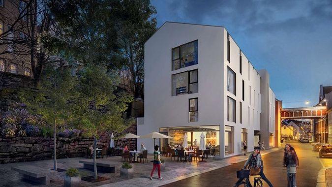Planlagt bygning i Nedre Strandgate