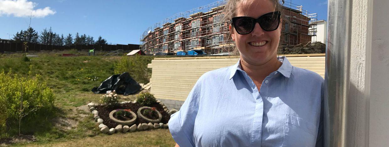 Janne Andersen Morais er nabo til Bates nye boligfelt på Hovemarka