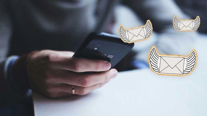 bilde av mobil og illustrasjoner