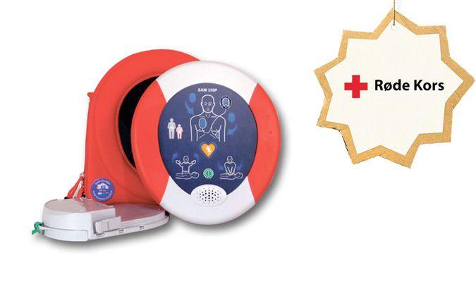 HeartSine PAD 350 hjertestarter fra Røde Kors