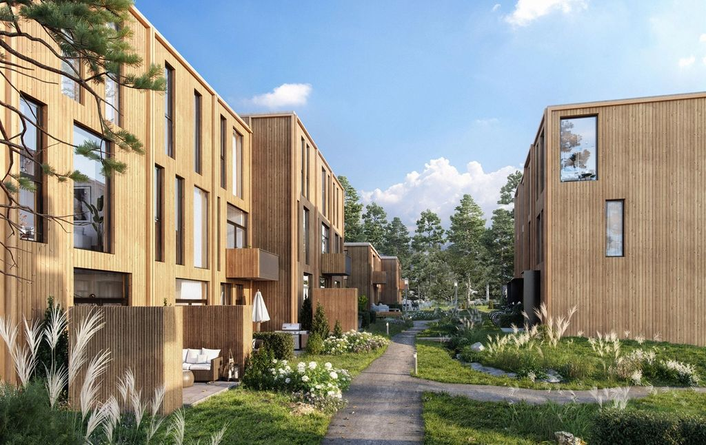 Flotte boliger i grønne omgivelser