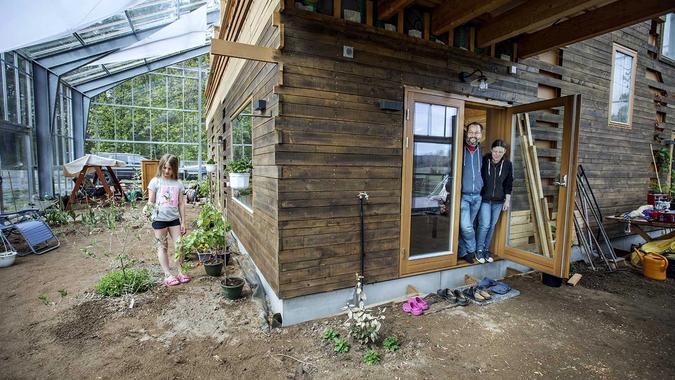 et hus i drivhus