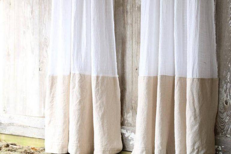 DIY Farmhouse Drop Cloth Curtains