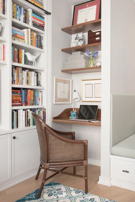 Try a Wall-Mounted Desk in a Home Office Guest Room