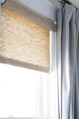how to hang curtains over roller shades