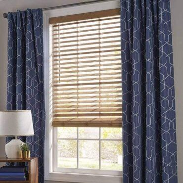 how to hang curtains over horizontal blinds