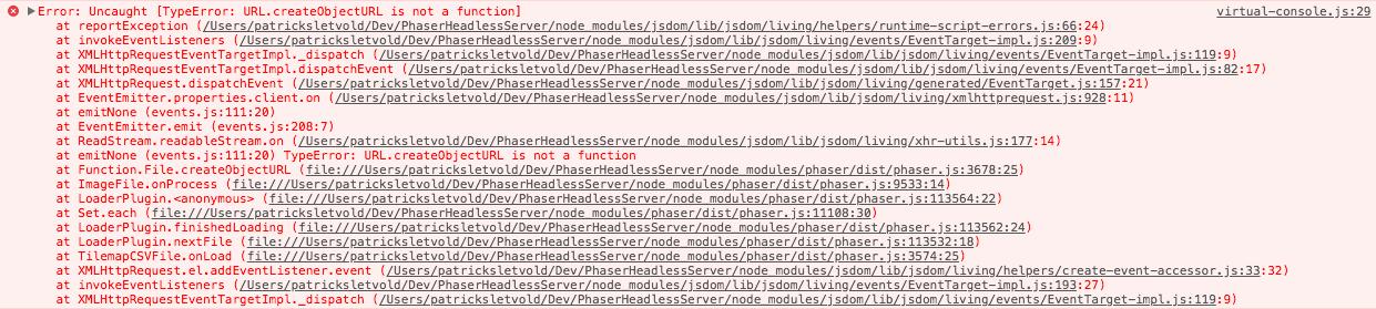 Error: URL.createObjectURL is not a function