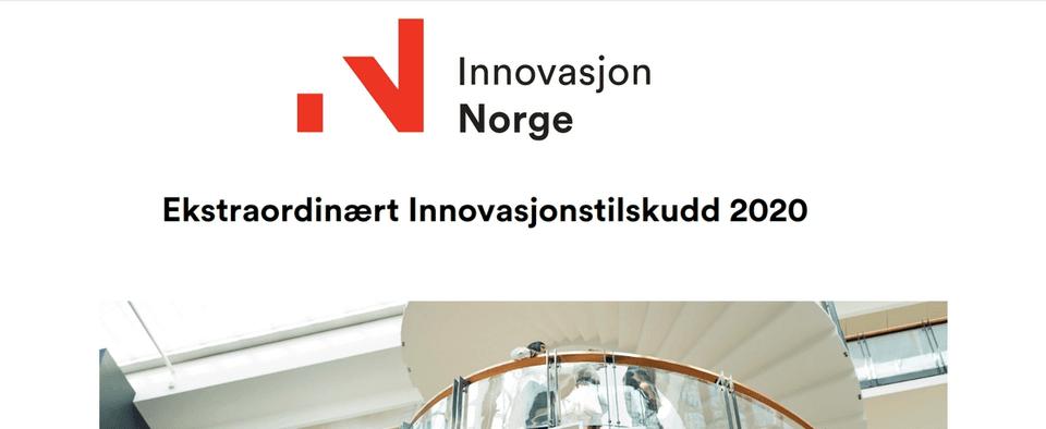 innovasjon norge - ekstraordinært innovasjonstilskudd 2020