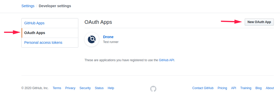 Click on OAuth Apps and then New OAuth App