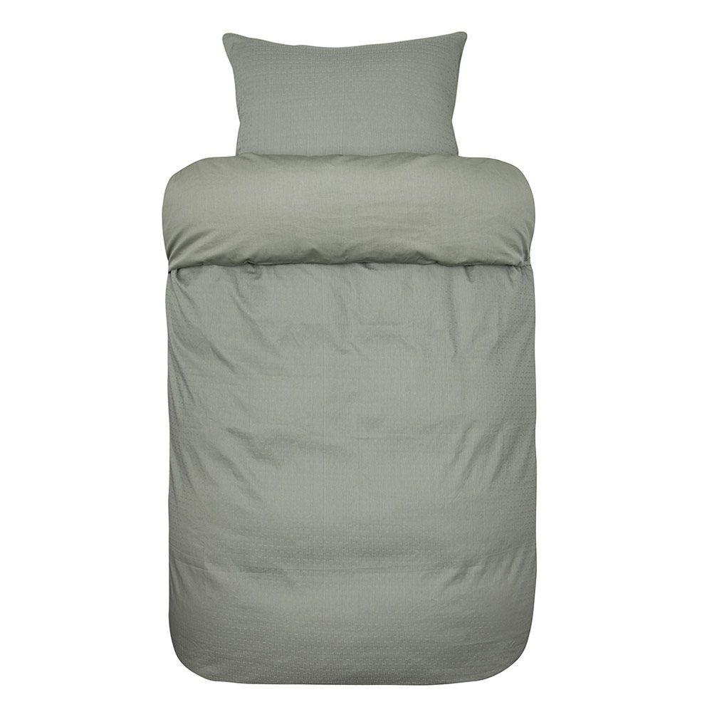 2x Grågrønt sengesett fra Høie