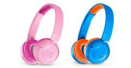 JBL barnehodetelefoner i rosa eller blå