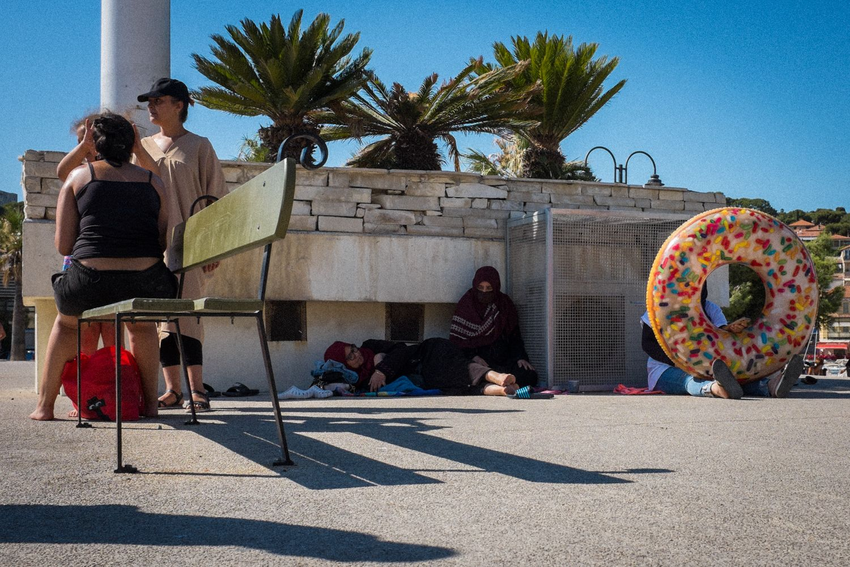 Streetphotography Marseille am Strand südlich von Marseille