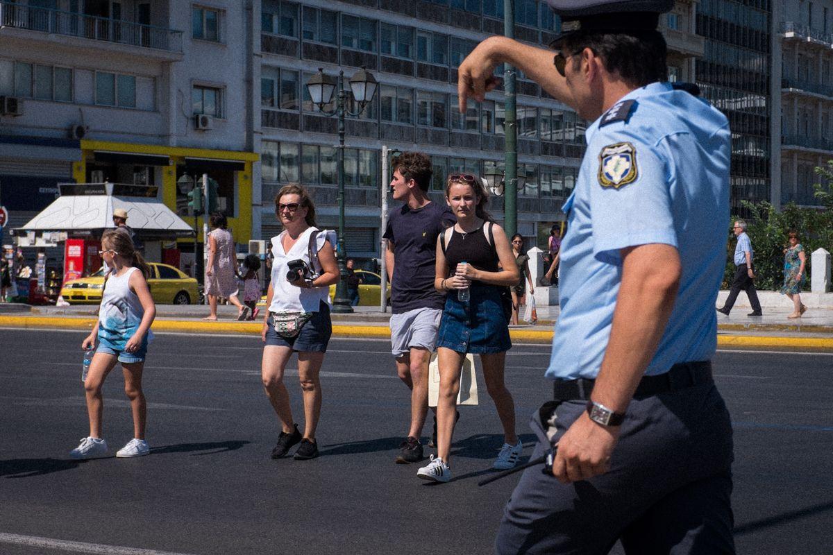 Polizist in Athen