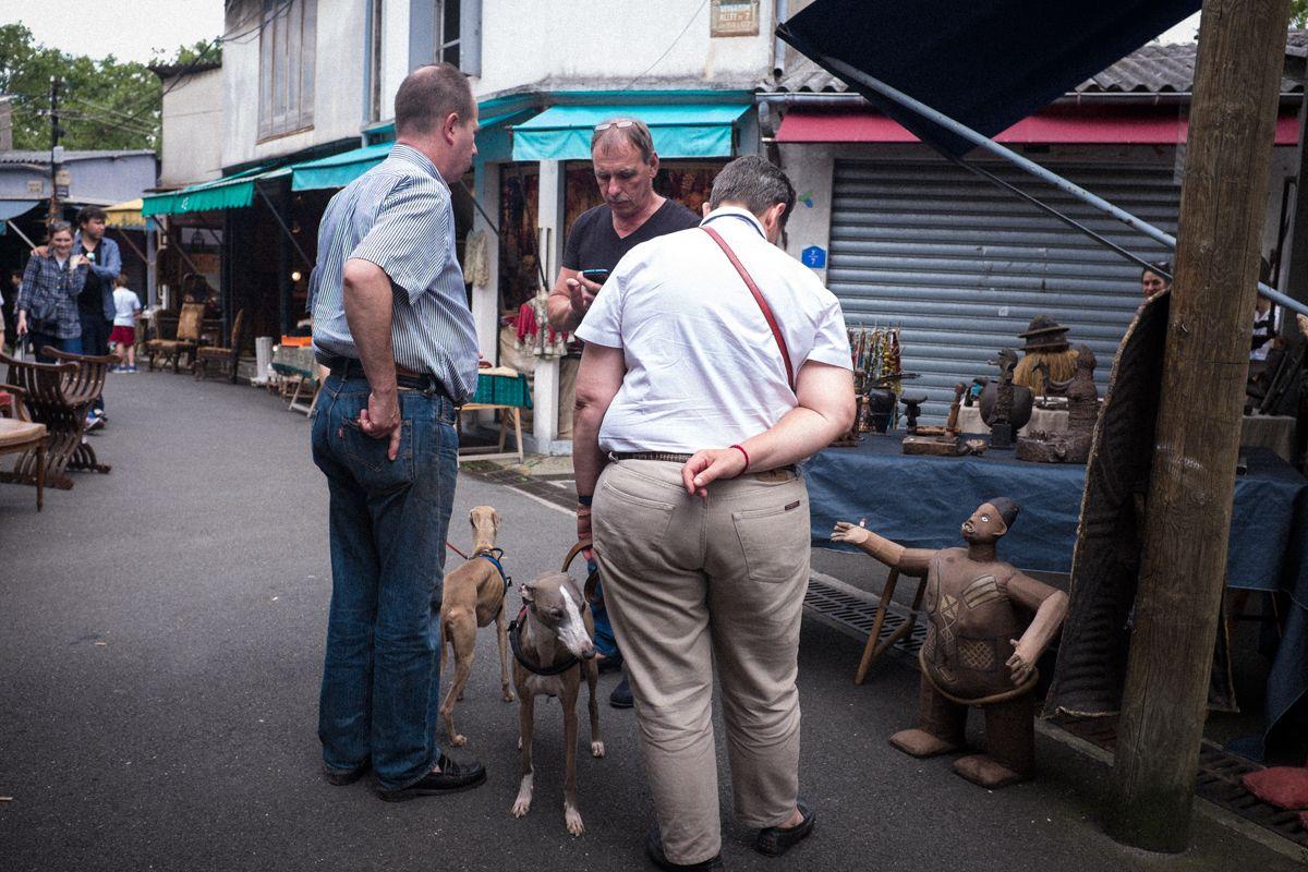 Flohmarkt im Norden von Paris