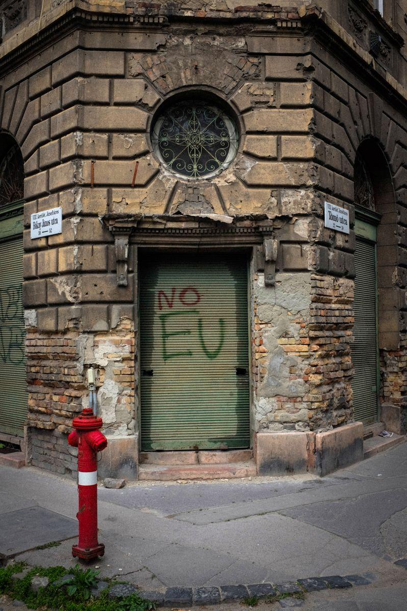 No EU Graffiti in Budapest